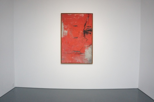《Red beijing image》145×89.3cm 布面综合材料 1990