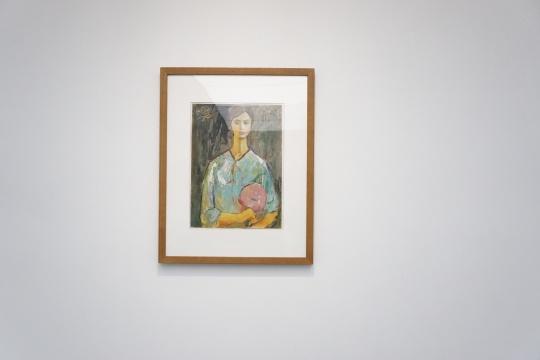《持扇的女孩》 54×40cm 纸上油画 1979