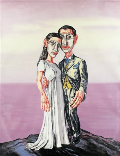 《A 系列之三:婚礼》 296×231cm 布面油画 2001 成交价:4025万人民币  北京保利香港2011年春季拍卖会