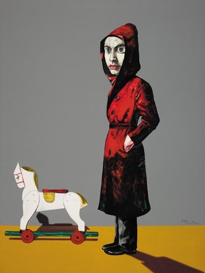 《肖像》 200 x 150cm 布面油画 2004  ©曾梵志工作室