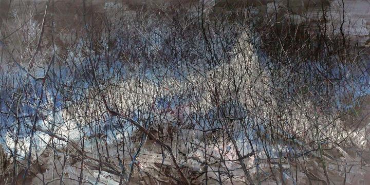 《无题06-3》(三联作) 250.2×509.8cm 布面油画 2006 成交价:1947万人民币 佳士得上海2014年秋季拍卖会