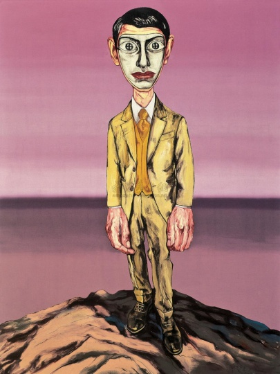 《面具系列》198.2×149.5cm 布面油画 2000 成交价:1970万港币(1729.7万人民币) 佳士得香港2010年春季拍卖会