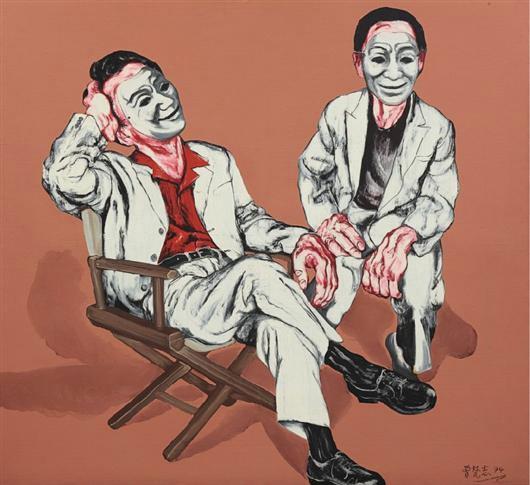 《假面系列四号》 166×180cm  布面油画 1994 成交价:1690万港币(1423万人民币) 香港苏富比2011年春季拍卖会