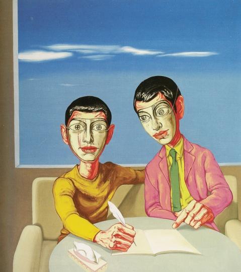 《面具系列》149.5×129.5cm 布面油画 1999 成交价:1578万港币(1272万人民币) 佳士得香港2012年秋季拍卖会