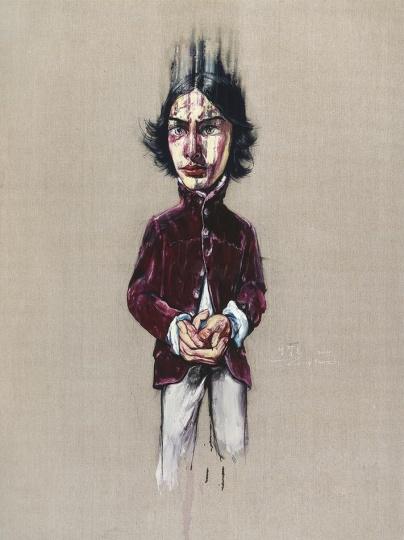 《面具之后》 200×150cm 布面油画 2005 成交价:1204万港币(968万人民币) 佳士得香港2014年春季拍卖会