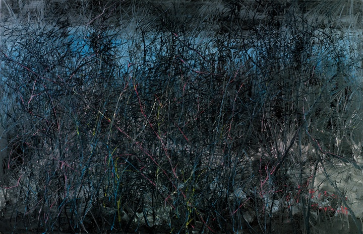 《风景》 215.9×330.2cm  布面油画 2006 成交价:1204万港币(952万人民币) 香港苏富比2014年秋季拍卖会