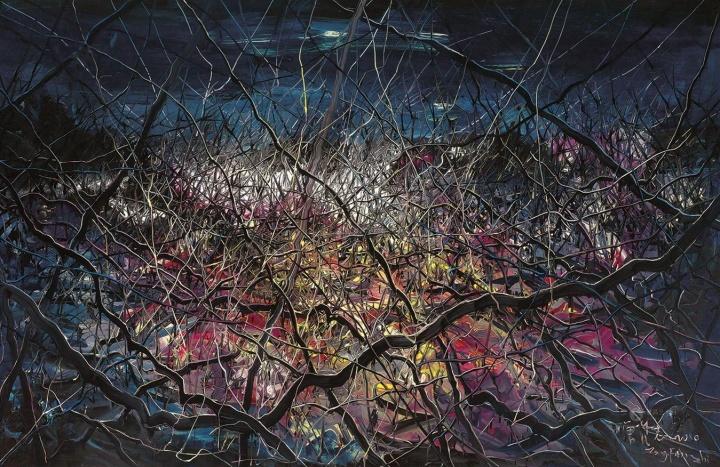 《无题 10-6-1》 180×280cm 布面油画 2010 成交价:1204万港币(946万人民币) 佳士得香港2013年秋季拍卖会