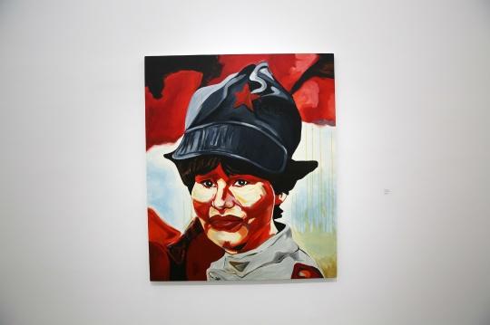黄然 《一张(可怜的)自画像》 180×150cm 布面油画 2015