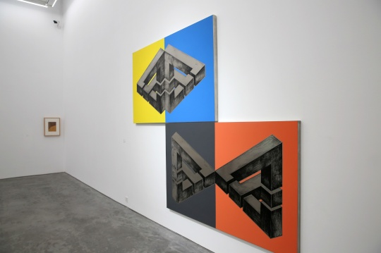 周啸虎 《悖论空间》 200×260cm 不锈钢蚀刻、彩色蚀刻、激光切割、纳米涂层 2014