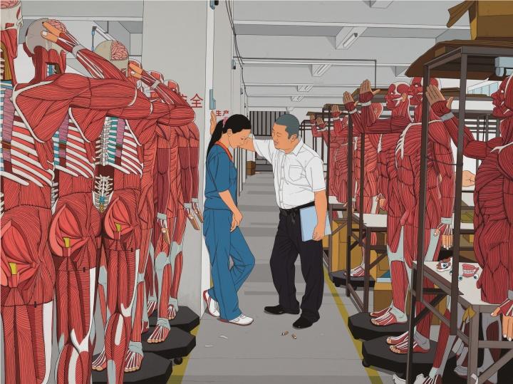 《工厂的春天》 180×240cm 亚麻布、丙烯 2012