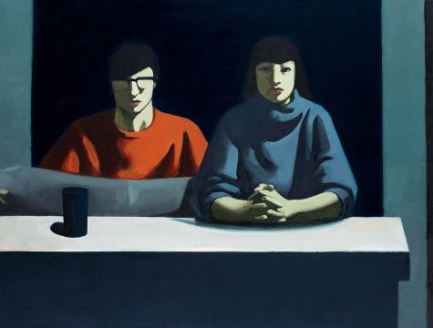 Lot 143 耿建翌 《灯光下的两个人》 177×155cm 布面油画 1985  成交价:1840万元