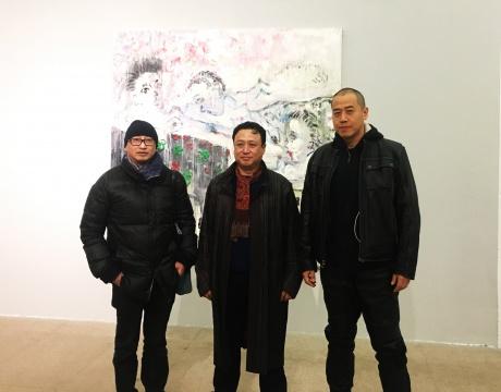从左至右冯博一、张旭东、孙原