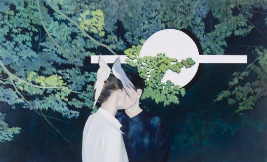 陈卓 《仲夏之夜》200x120cm 布面油画 2016