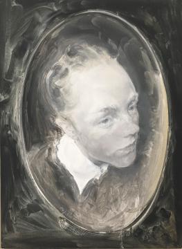 毛焰 《椭圆形肖像画》53.7x72.6cm 布面油画 2010