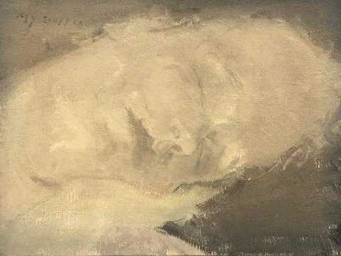 毛焰 《小托马斯2007 No.2》36x27.5cm 布面油画 2007