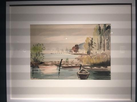 《欧洲风景写生》 34ch×47.5cm 水彩 1954