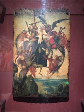 米开朗基罗于吉尔兰戴欧工作室所绘制的第一张画作,原作藏于美国德克萨斯金博尔艺术博物馆