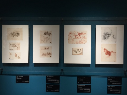 达芬奇 《安吉亚里战役》素描复制打印品