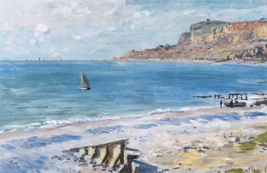克劳德·莫奈《圣·安德利斯》 48.2×74.3cm布面油画 1873年  成交价:4600万元