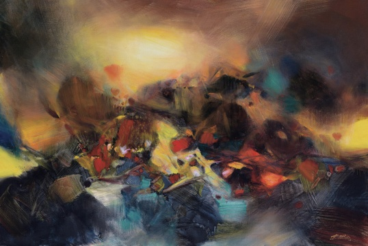 朱德群 《扩张》 130×195cm 布面油画 2006  成交价:1104万元