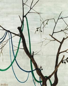 张恩利 《缠绕的树》 250×200cm 布面丙烯 2013  成交价:184万元