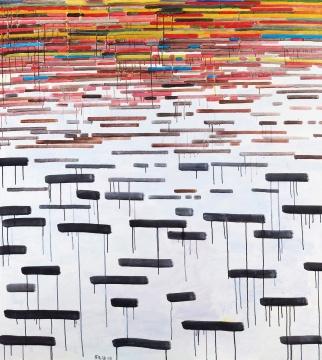 余友涵 《抽象》 158×142cm 布面丙烯 2008  成交价:230万元