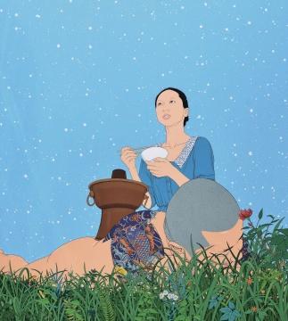 陈飞 《北方》 200×180cm 布面油画 2012  成交价:103.5万元,由唐炬竞得