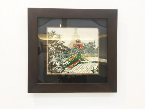 庞均 《白塔积雪》 46.4×51.4cm 油画 1978
