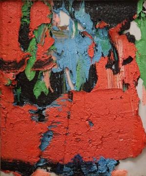 朱金石 《它引导我们如何看夕阳》 120×100cm 布面油画 2007