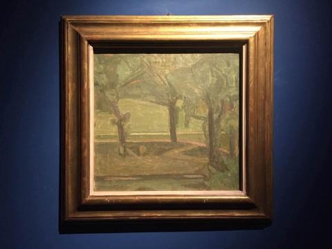 以及一幅木木美术馆的馆藏莫兰迪的绘画——克里斯托弗由于创作中对颜