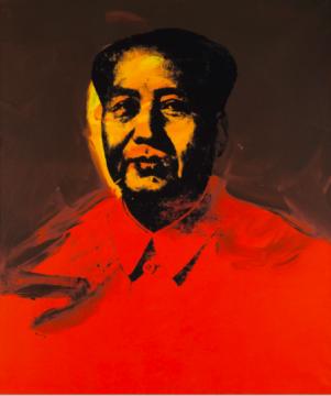 安迪·沃霍尔 《毛主席》 107×163cm 亚克力、丝网印刷 1973  成交价 :9853.75万元