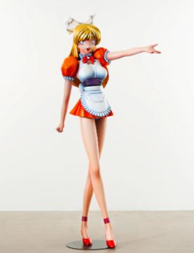 村上隆 《Miss Ko²》 182.9×63.5×82.6cm 玻璃纤维、铁、合成树脂、油彩 1997  成交价:2290万港元,刷新艺术家亚洲拍卖纪录