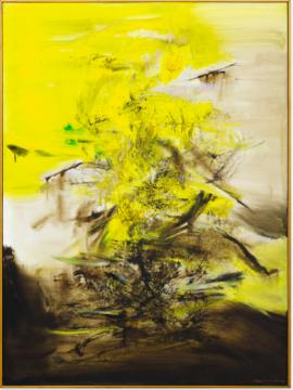 赵无极 《17.07.67》 130×96.5cm 油画画布 1967  成交价:4003.75万港元