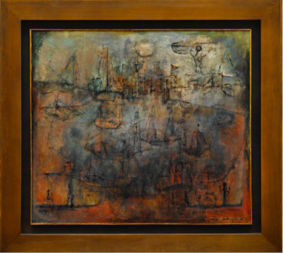 赵无极 《月满千帆》 105×120cm 油画画布 1952  成交价:3103.75万港元