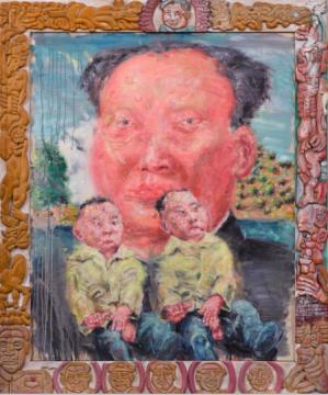 刘炜 《毛泽东的一代》 123.5×103.8cm 油画画布、手绘木雕画框 1992-1999  成交价:1090万港元