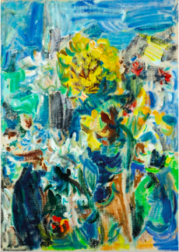 吴大羽 《繁花争艳》 45.5×32.5cm 油画画布 1960年代  成交价:850万港元      值得一提的是,常玉的一件《双裸女;盘踞裸女》估价1500万-2500万港元,但最终由于估价过高而无人问津。