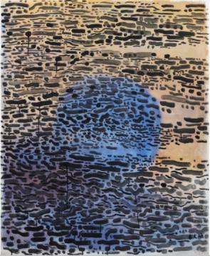 余友涵 《圆》 109×89.5cm 亚克力画布 1990  成交价:298万港元