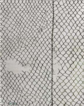 """张恩利 《铁网4号》 249.8×199.8cm 油画画布 2011  成交价:175万港元      70后艺术家尹朝阳此次一件《失乐园4号》的作品进入夜场。关于这件拍品,资深市场专家伍劲曾在拍卖之前发了一条朋友圈:""""到现在为止,大概过去了15年……这幅画当时卖了3万元。""""历时15年后,这件作品以175万港元成交。"""