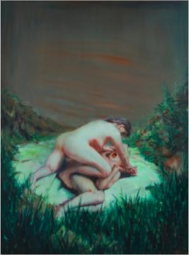 尹朝阳 《失乐园4号》 200×150cm 油画画布 2001  成交价:175万港元      刷新纪录拍品: