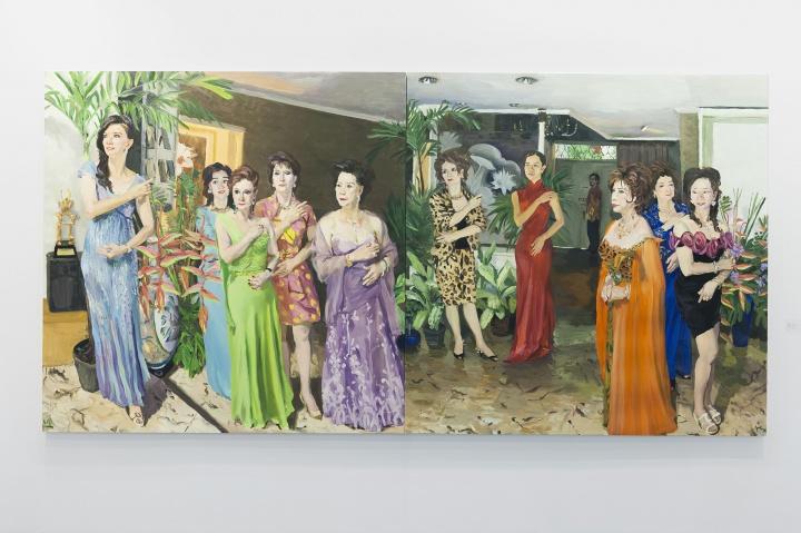 刘小东《记忆树一》200 x 400 cm油彩画布2014