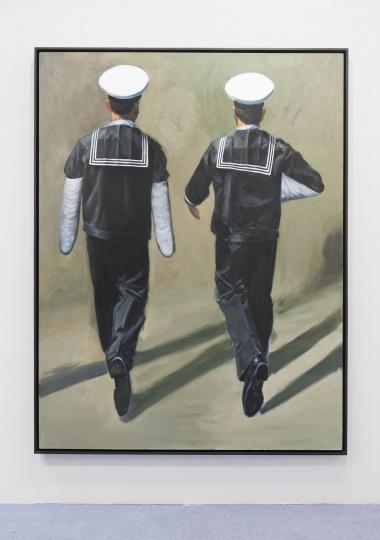 刘夏《两个海军》180×235cm布面油画2016