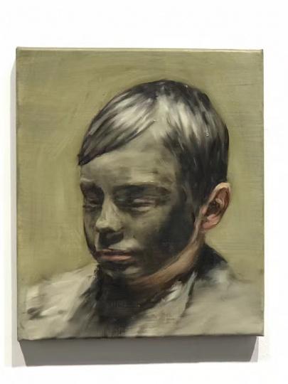 Michael Borremans《Mud Boy》42 x 36cm 2017 以42万美元售出