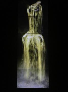 《水粒子世界——金色》数字作品 5频 连续循环2016