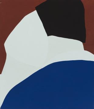 《无题 28》 110×95cm 布面丙烯 2017