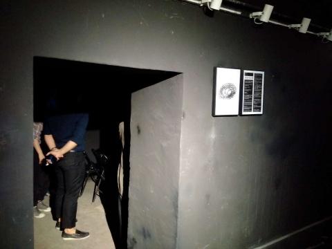 由防空洞改造而成的掩体空间展厅