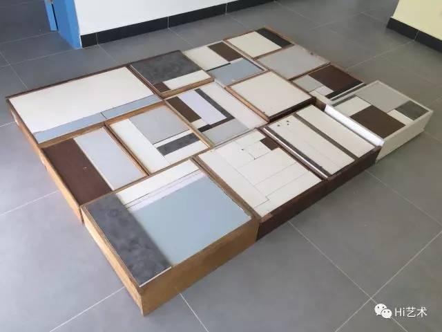 《这件,那件》200×160cm抽屉 旧家具木板 2017
