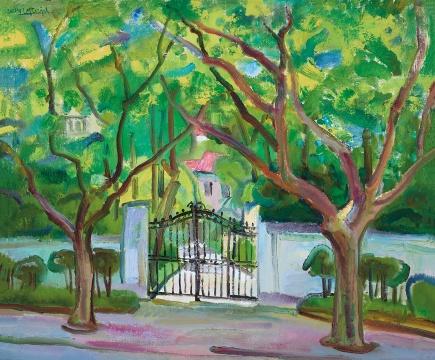陈钧德 《翠阳窄门》 60.5×73cm 布面油画 2004  成交价:23万元(估价:8万-12万元,由唐炬竞得)
