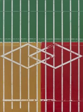 《窗2》 200×150cm 布面丙烯综合材料2017