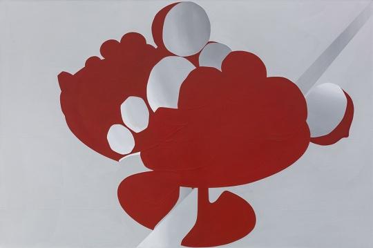 《果实碎片》160×240cm布面丙烯综合材料2017