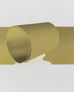 《与桶有关的距离1》 150×120cm布面丙烯综合材料2017
